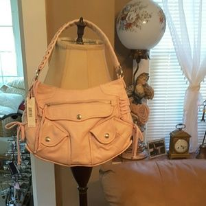 Dkny pink leather bag